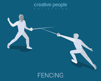 Sport collection: fenching lunge Stock Photos