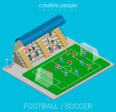 Sport collection: football / soccer stadium match play Royalty Free Stock Images