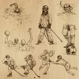 Sport collection no.8 - hand drawn illustrations Stock Image
