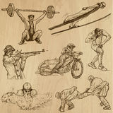 Sport collection no. 7 - hand drawn illustrations Royalty Free Stock Image