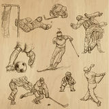 Sport collection no.9 - hand drawn illustrations Stock Photos