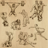 Sport collection no.10 - hand drawn illustrations. Sports around the World (vector pack no.10). Collection of an hand drawn illustrations (originals). Each Stock Photos