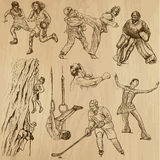 Sport collection no.12 - hand drawn illustrations Stock Image