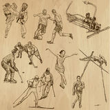 Sport collection no.11 - hand drawn illustrations Stock Images