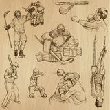 Sport collection no.13 - hand drawn illustrations Royalty Free Stock Images