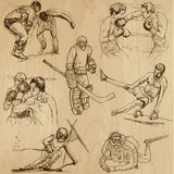 Sport collection no.14 - hand drawn illustrations Royalty Free Stock Image