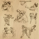 Sport collection no.15 - hand drawn illustrations Royalty Free Stock Image