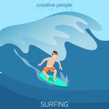 Sport collection: surfer Stock Photos