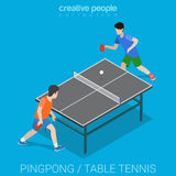 Sport collection: table tennis match Stock Photos