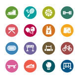 Sport Color Icons Royalty Free Stock Image