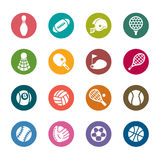 Sport Color Icons Royalty Free Stock Images