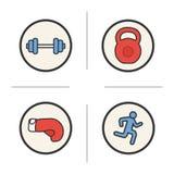 Sport color icons set Stock Photos