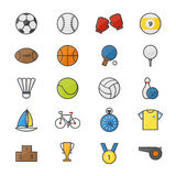 Sport Color Icons Set Of Vector Illustration Royalty Free Stock Photo