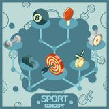 Sport color isometric concept icons. Vector illustration, EPS 10 Stock Photography