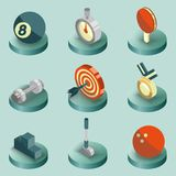 Sport color isometric icons. Vector illustration, EPS 10 Royalty Free Stock Photos