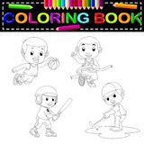 Sport coloring book. Illustration of sport coloring book vector illustration