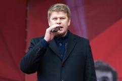 Sport commentator Dmitry Guberniev Royalty Free Stock Photo