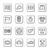 Sport Competition Doodle Icons Royalty Free Stock Photos