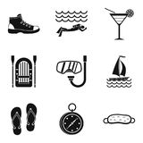Sport competition icons set, simple style Stock Image