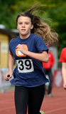 Sport competition for teenager. Running teenager on school competition Stock Photos
