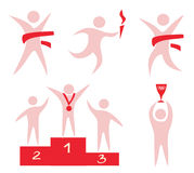 Sport, competition, victory icons set Stock Photo