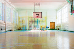 Sport complex in Russian school Royalty Free Stock Photo