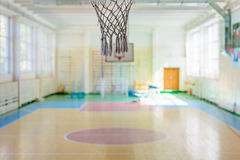 Sport complex in Russian school. Empty sport complex in Russian school royalty free stock photography