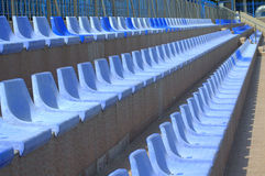 Sport complex seats Royalty Free Stock Photos