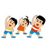 Sport con i bambini illustrazione vettoriale