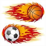 sport con le fiamme Immagine Stock Libera da Diritti