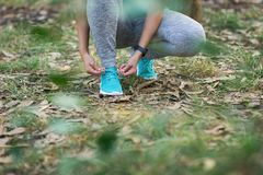 Sport concept and healthy workout in nature stock photography