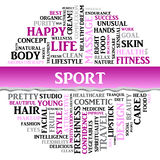 SPORT concept related words in tag round cloud, vector Stock Photography