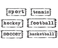 Sport Concept Stamps. Vector illustration Royalty Free Stock Images