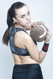 Sport Concepts and Ideas. Professional Female Athlete Stock Photo