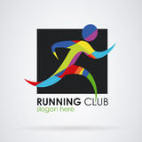 Sport corrente di forma fisica di logo Fotografia Stock Libera da Diritti