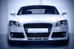 Sport coupe. Front view of european sport coupe, motion effect Royalty Free Stock Photography