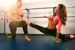 Sport couple. Royalty Free Stock Photos