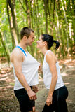 Sport couple in love Stock Images