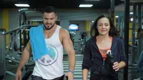 Sport couple after training