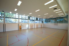 Sport court - indoor Royalty Free Stock Photo