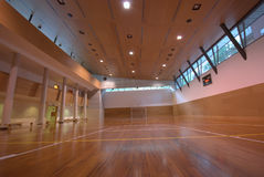 Sport court - indoor Royalty Free Stock Image