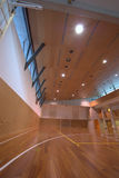 Sport court - indoor Stock Photo