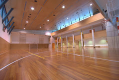 Sport court - indoor Royalty Free Stock Photography