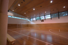Sport court - indoor Stock Photos