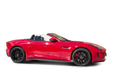 Sport covertible automobile. Sport convertible car with clipping path Royalty Free Stock Photo
