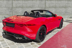 Sport covertible car. Sport convertible with clipping path Royalty Free Stock Photos