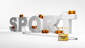 Sport, crisi Immagine Stock Libera da Diritti