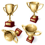 Sport Cup. Set of four views Stock Image