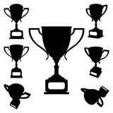 Sport cups silhouettes Royalty Free Stock Photo
