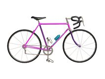Sport cycle. 3D pink sport cycle white background Royalty Free Stock Images